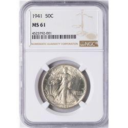 1941 Walking Liberty Half Dollar Coin NGC MS61