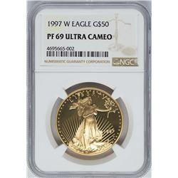 1997-W $50 American Gold Eagle Coin NGC PF69 Ultra Cameo