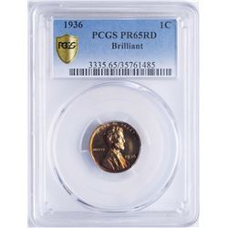 1936 Lincoln Wheat Penny Proof Coin PCGS PR65RD