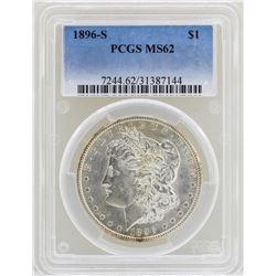 1896-S $1 Morgan Silver Dollar Coin PCGS MS62