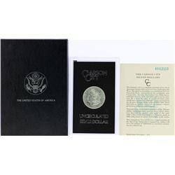 1885-CC $1 Morgan Silver Dollar Coin GSA Uncirculated w/Box & COA