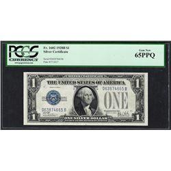 1928B $1 Funnyback Silver Certificate Note Fr.1602 PCGS Gem New 65PPQ