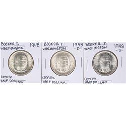 Set of 1948 P/D/S Booker T. Washington Commemorative Half Dollar Coins
