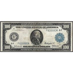 1914 $100 Federal Reserve Note Atlanta