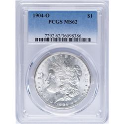 1904-O $1 Morgan Silver Dollar Coin PCGS MS62