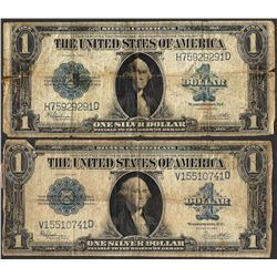 Lot of (2) 1923 $1 Silver Certificate Notes