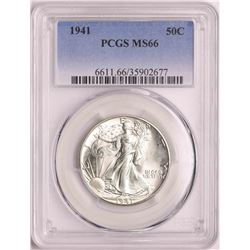 1941 Walking Liberty Half Dollar Coin PCGS MS66