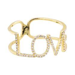 "14KT Yellow Gold ""LOVE"" 0.25 ctw Diamond Ring"