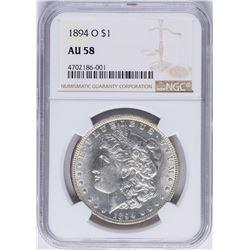 1894-O $1 Morgan Silver Dollar Coin NGC AU58