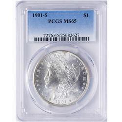 1901-S $1 Morgan Silver Dollar Coin PCGS MS65