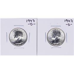 Lot of 1947-D & 1947-S Washington Quarter Coins