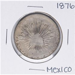 1876 J.S Mexico 8 Reales Silver Coin