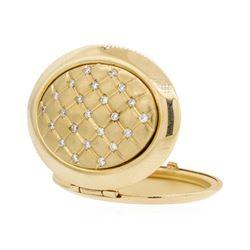 14KT Yellow Gold 0.25 ctw Diamond Locket