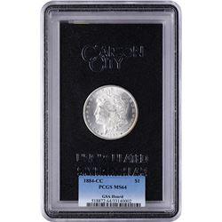 1884-CC $1 Morgan Silver Dollar Coin Uncirculated GSA PCGS MS64