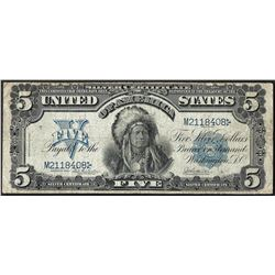 1899 $5 Chief Silver Certificate Note