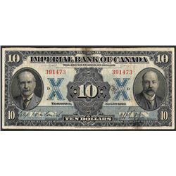 1923 $10 Imperial Bank of Canada Note