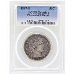1897-S Barber Quarter Silver Coin PCGS VF Details