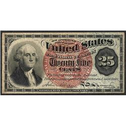 March 3, 1863 Twenty Five Cents Fourth Issue Fractional Currency Note