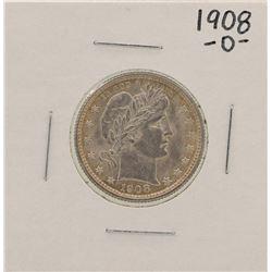 1908-O Barber Quarter Silver Coin