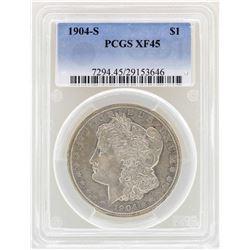 1904-S $1 Morgan Silver Dollar Coin PCGS XF45