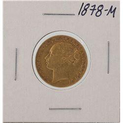 1878-M Melbourne Australia Sovereign Gold Coin