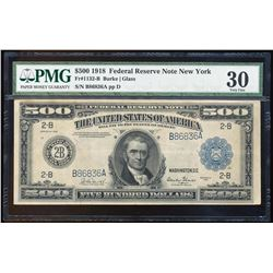 1918 $500 Federal Reserve Note New York Fr.1132-B PMG Very Fine 30