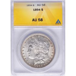 1894 $1 Morgan Silver Dollar Coin ANACS AU58