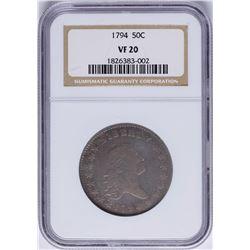 1794 Flowing Hair Bust Half Dollar Coin NGC VF20