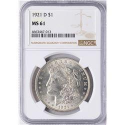 1921-D $1 Morgan Silver Dollar Coin NGC MS61