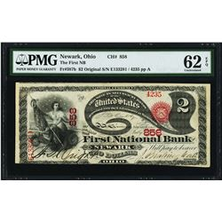 Original Lazy Deuce $2 First NB Newark, OH National Currency Note PMG Unc. 62EPQ