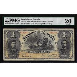 1898 $1 Dominion of Canada ONEs Inward Note DC-13a PMG Very Fine 20