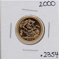 2000 Great Britain Elizabeth II Sovereign Gold Coin