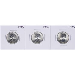 Lot of 1943-1945 Washington Quarter Coins