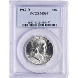 1962-D Franklin Half Dollar Coin PCGS MS64