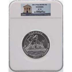 2011-P America the Beautiful Vicksburg 5 Ounce Silver Coin NGC SP70