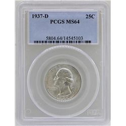 1937-D Washington Quarter Coin PCGS MS64