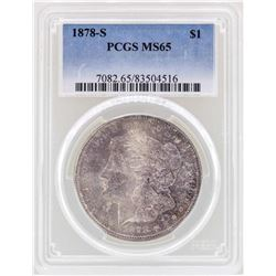 1878-S $1 Morgan Silver Dollar Coin PCGS MS65