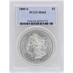 1885-S $1 Morgan Silver Dollar Coin PCGS MS62