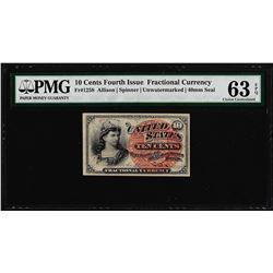 March 3, 1863 10 Cents 4th Issue Fractional Currency Note PMG Choice Uncirculate
