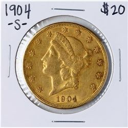 1904-S $20 Liberty Head Double Eagle Gold Coin