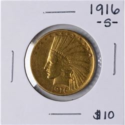 1916-S $10 Indian Head Eagle Gold Coin