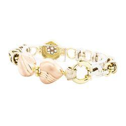 18KT Rose, Yellow and White Gold 0.20 ctw Diamond Bracelet