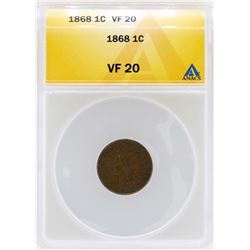 1868 Indian Head Cent Coin ANACS VF20