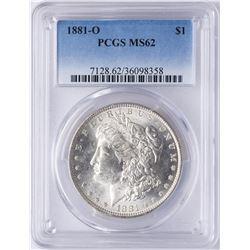 1881-O $1 Morgan Silver Dollar Coin PCGS MS62