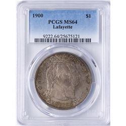 1900 $1 Lafayette Commemorative Silver Dollar Coin PCGS MS64