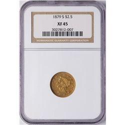 1879-S $2 1/2 Liberty Head Quarter Eagle Gold Coin NGC XF45