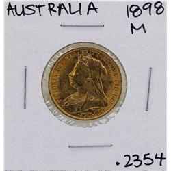 1898-M Australia Queen Victoria Sovereign Gold Coin