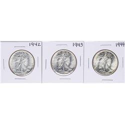 Lot of 1942-1944 Walking Liberty Half Dollar Coins