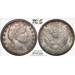 1906-D Barber Half Dollar Coin PCGS MS64