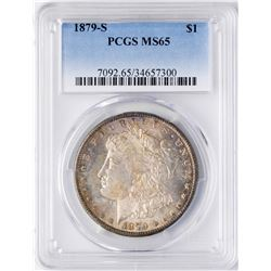 1879-S $1 Morgan Silver Dollar Coin PCGS MS65 Nice Color